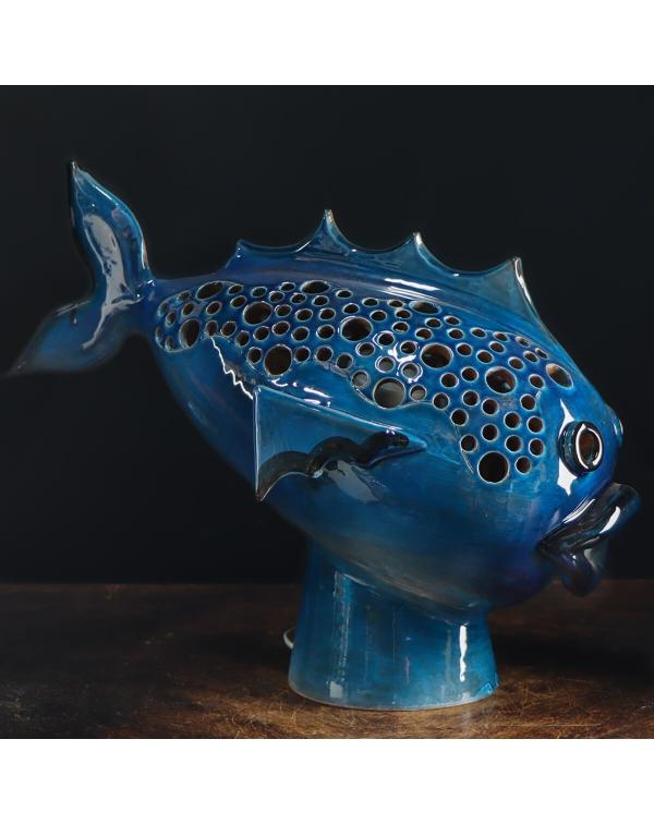 Fish Ceramic Lamp Sculpture