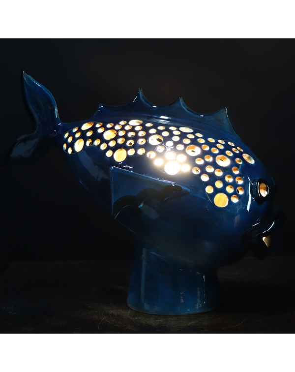 Fish Ceramic Lamp Sculpture