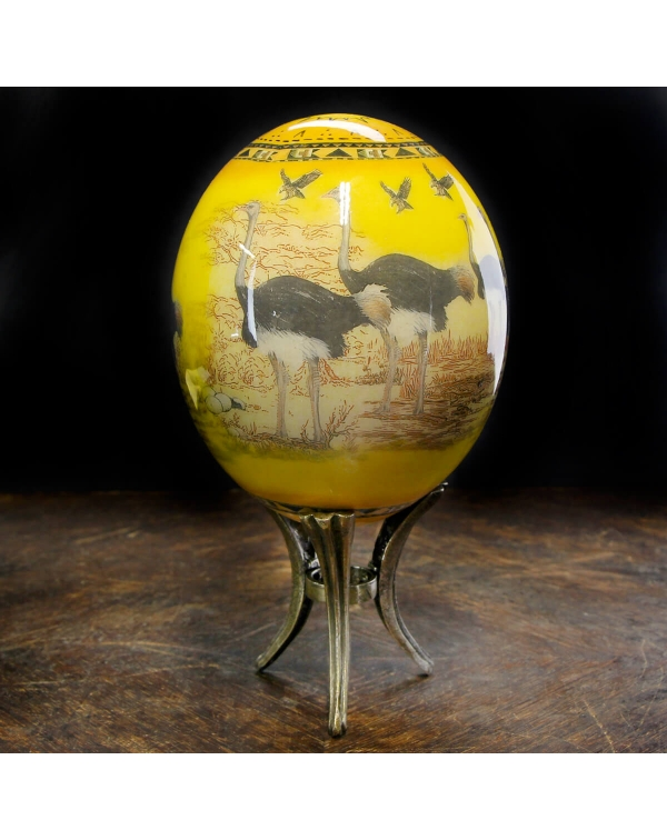 Decorated ostrich eggs