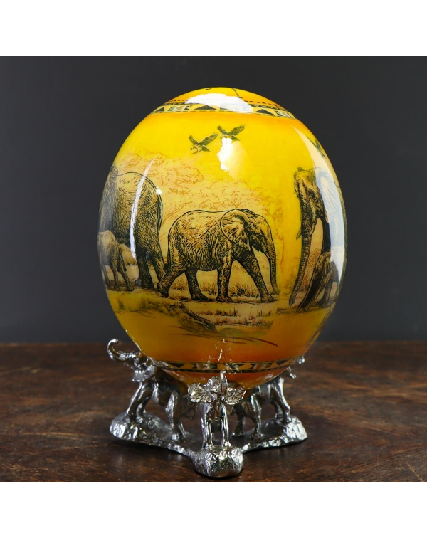 Decorated Ostrich Egg