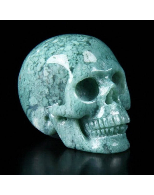 Chrysoprase Skull