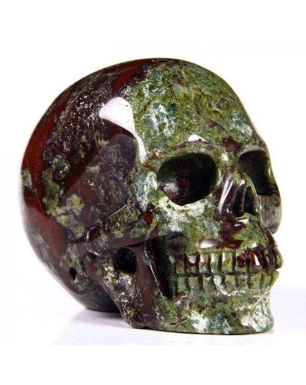 Dragon Blood Jasper Skull