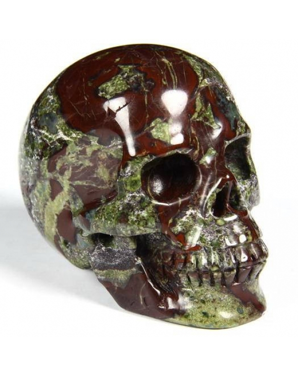 Dragon Blood Jasper Skull