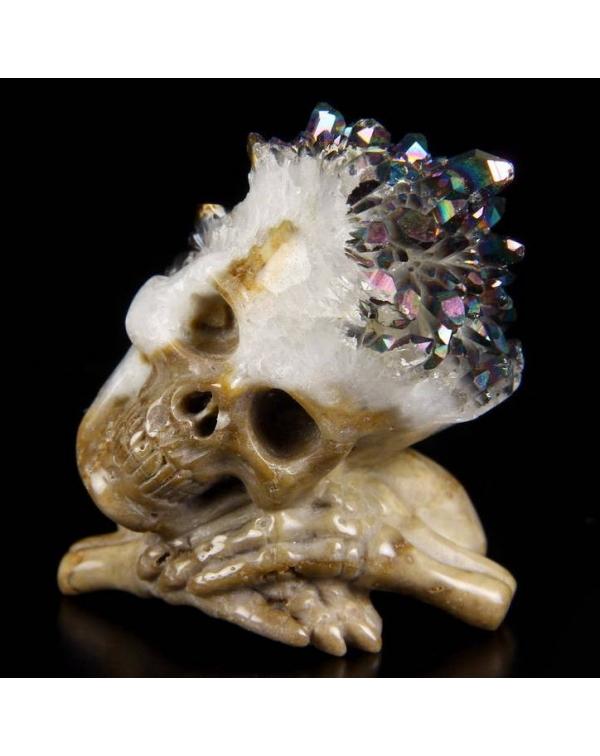 Quartz Druse Skull