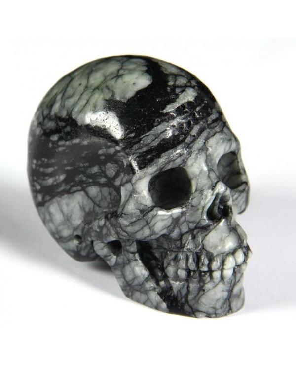 Black Picasso Jasper Skull