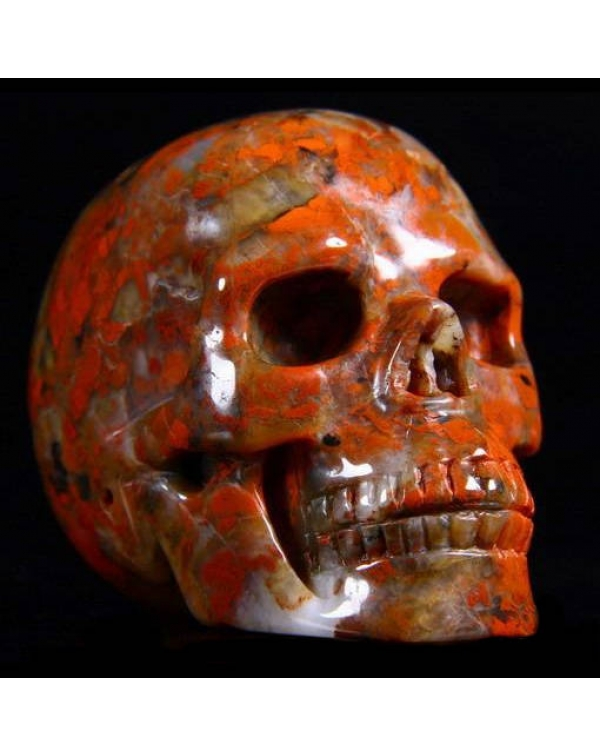 Red Brecciated Jasper Skull