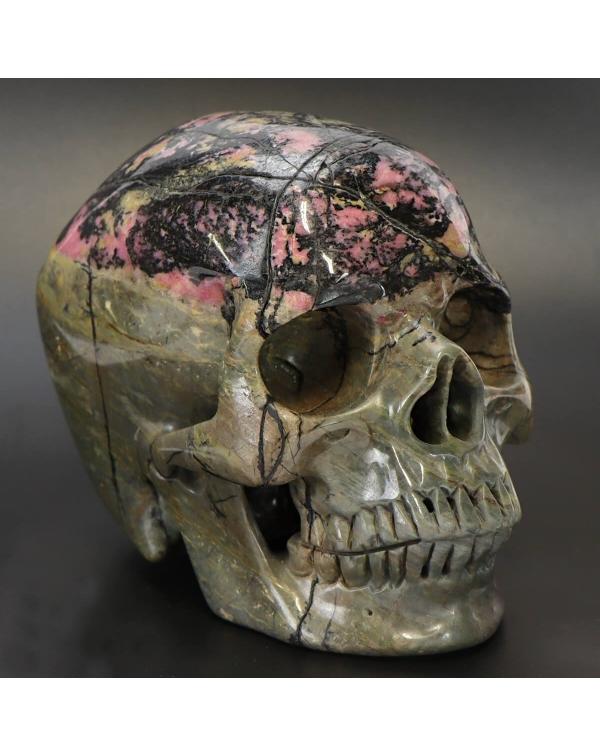 Rhodonite Skull