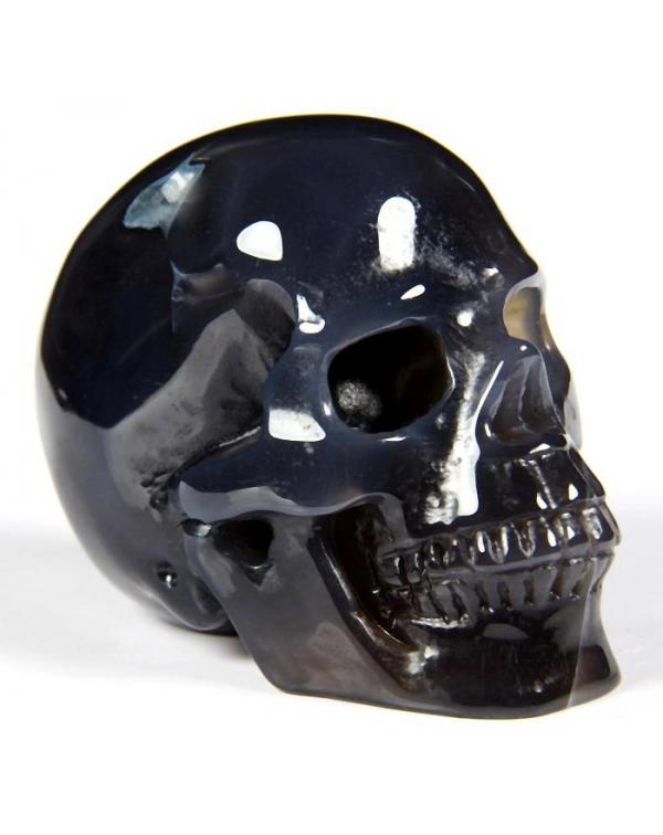 Grey Agate Skull