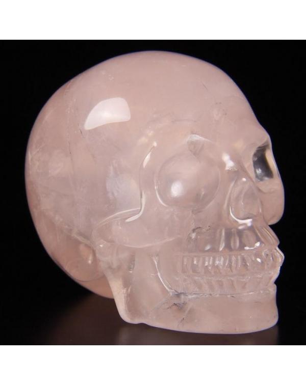 Quartz Rose Skull