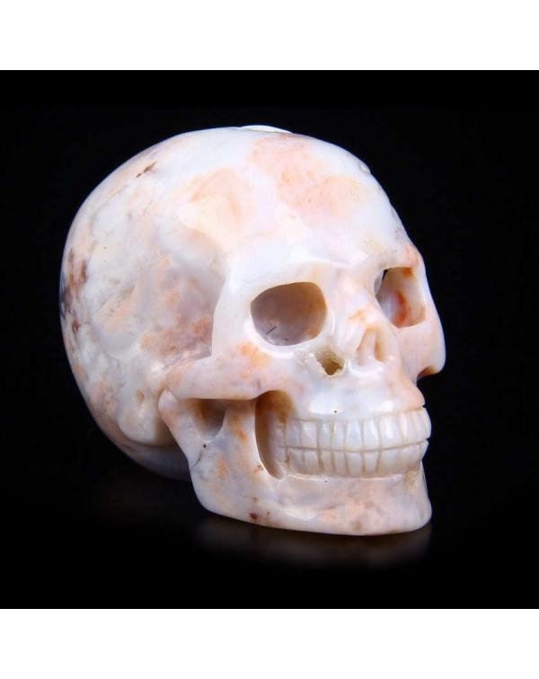 Pink Ocean Agate Skull