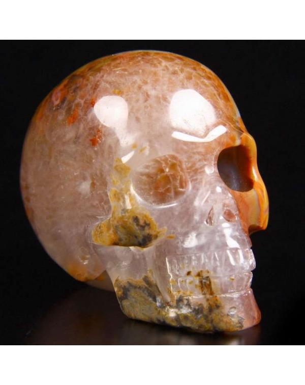 Red Agate Skull