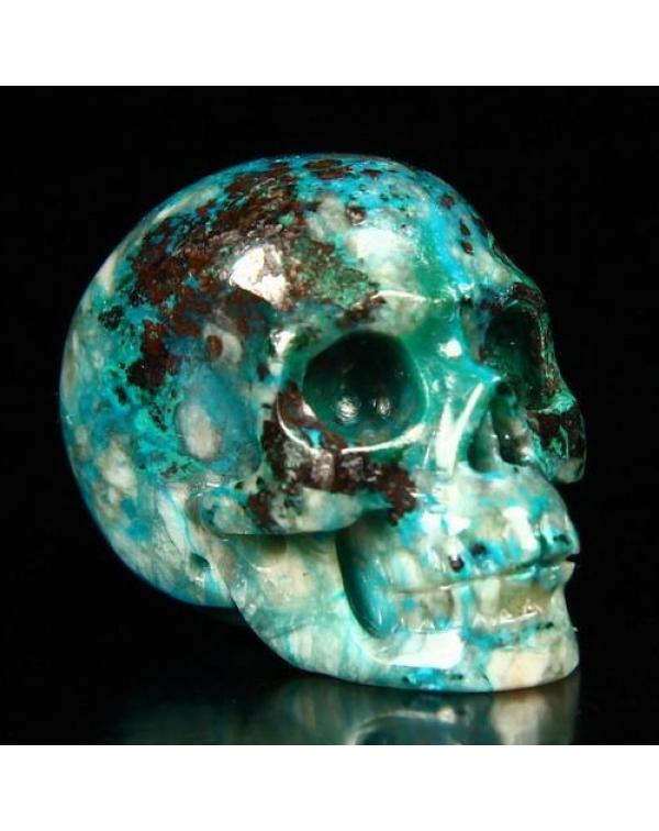 Crysocolla Skull