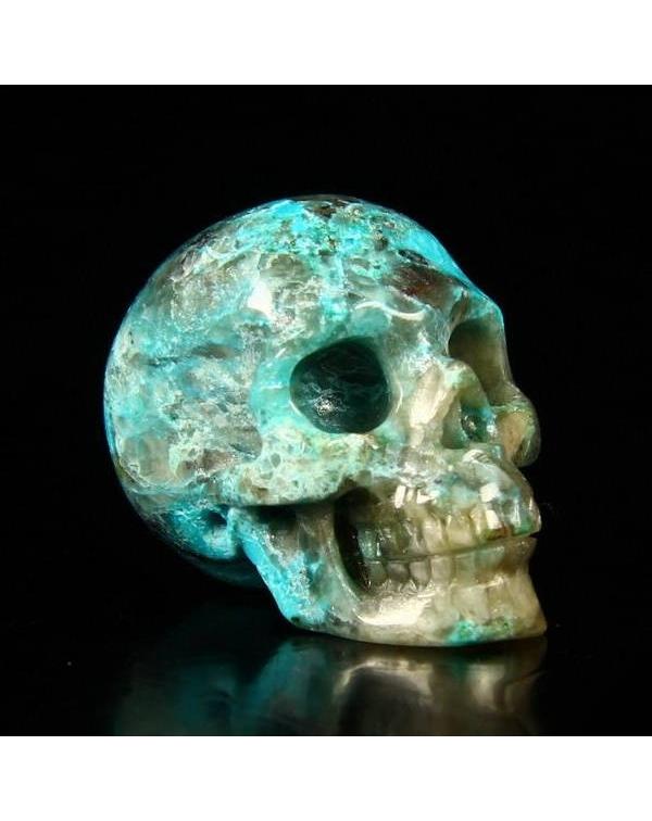 Zoisite Ruby Skull
