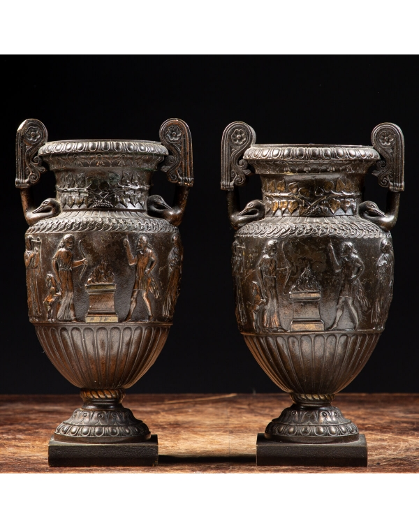 Napoleon III Style Bronze Cups