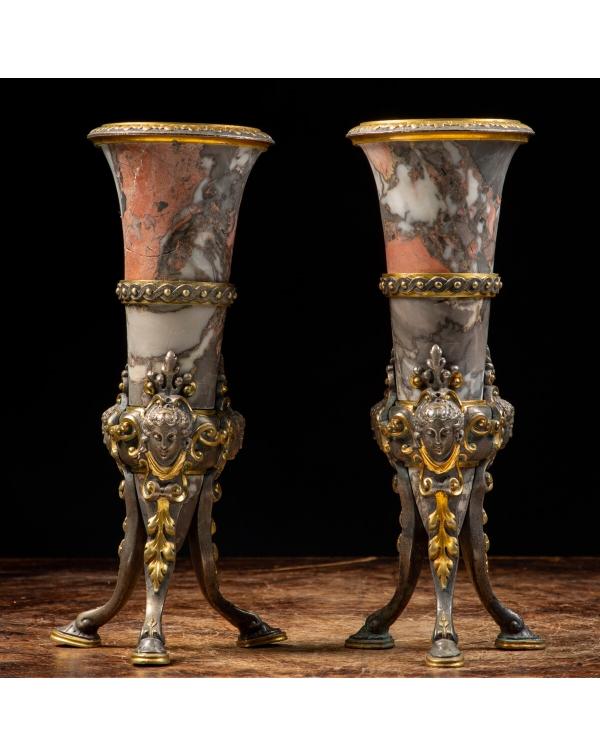Napoleon III style flower vases