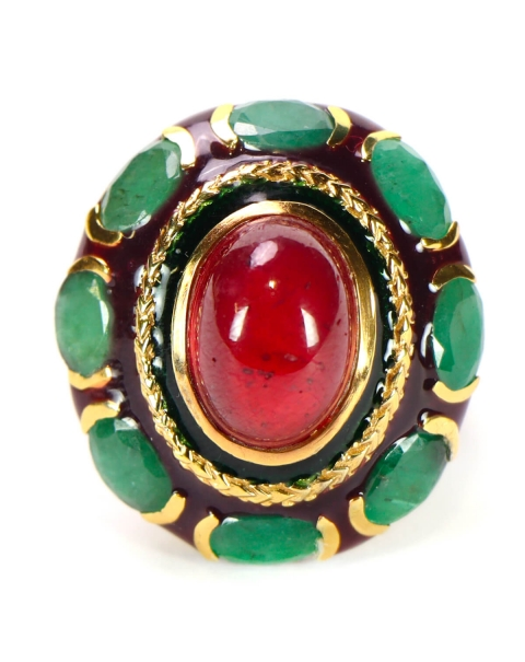 Ruby and Emeralds Ring