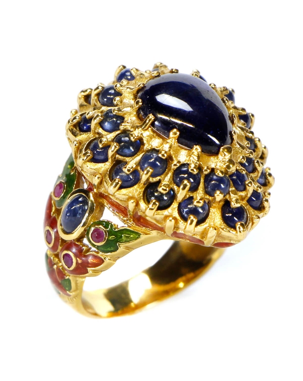 Sapphire and Ruby Ring