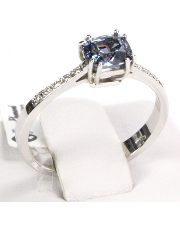 White Gold Spinel Ring and Diamonds