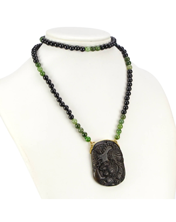 Jade and Onix Necklace