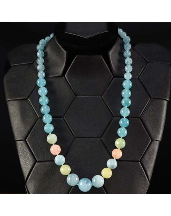 Aquamarine and Morganite Necklace