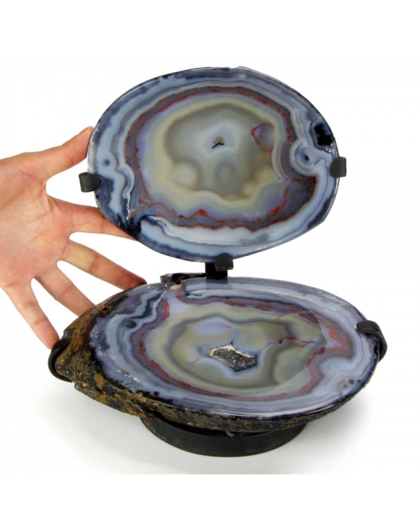 Sectioned Agate on Pedestal
