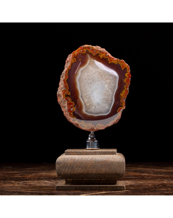 Agate Geode on Pedestal
