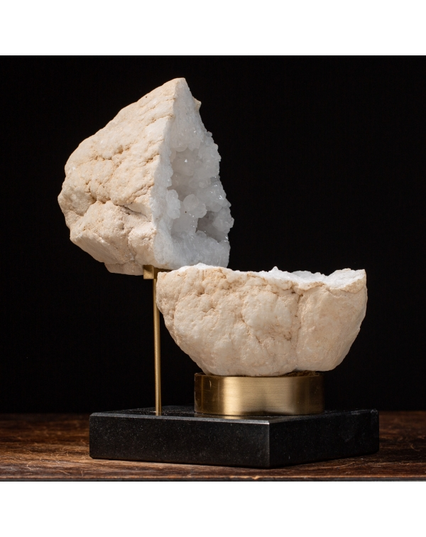 Calcite Geode on Marble