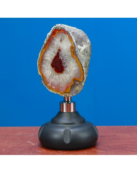 Agate Geode on Pedestal