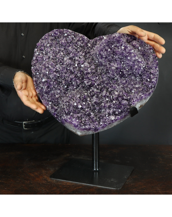 Druse of Amethyst in the shape of a Heart