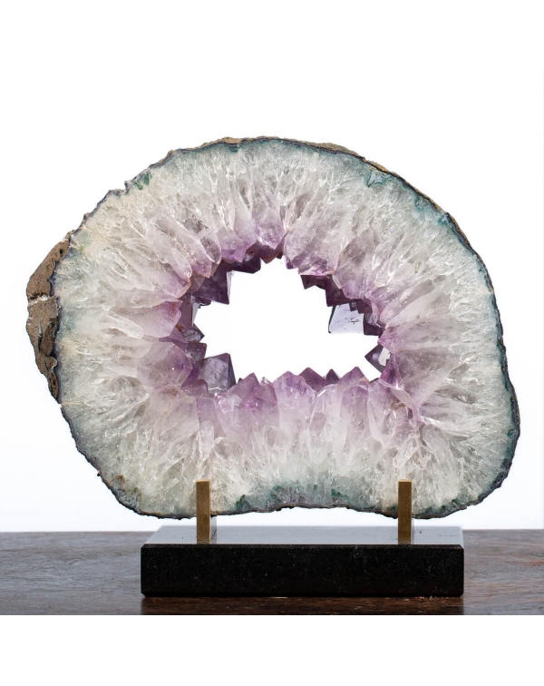 Slab Of Amethyst And Quartz