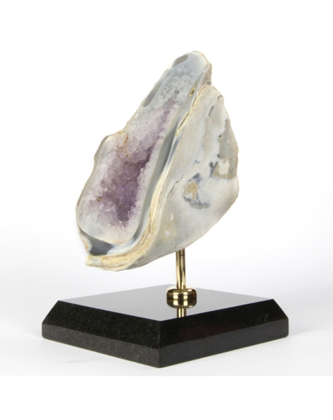 Geode of Amethyst on pedestal