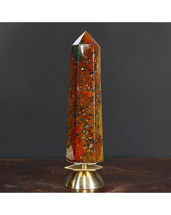 Tiger Jasper Obelisk