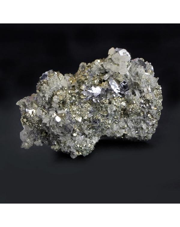 Pyrite, Galena, Quartz, Hematite