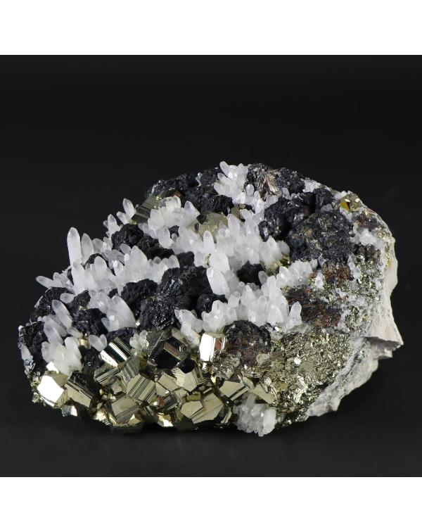 Galena, Pyrite, Quartz