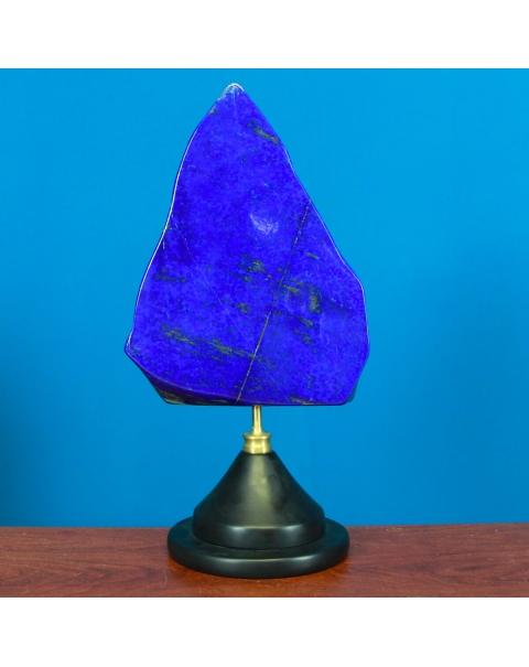 Lapis Lazuli on Brass and Wood base