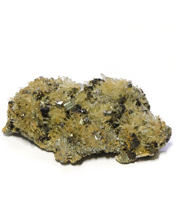 Quartz with Pyrite and Sphalerite
