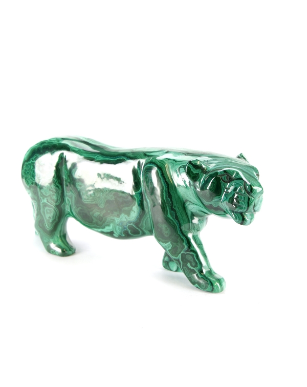 Malachite Tiger Statues