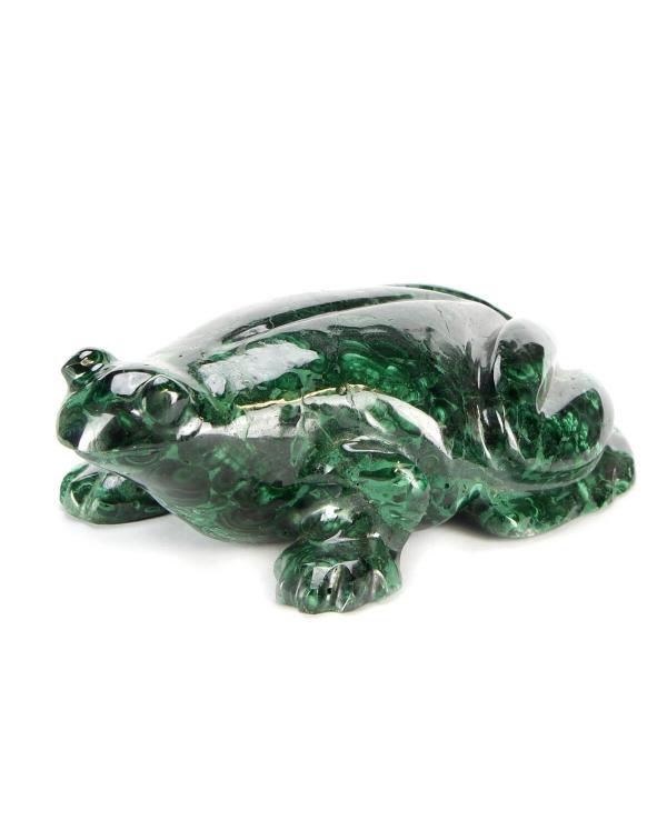 Frog Malachite Statue