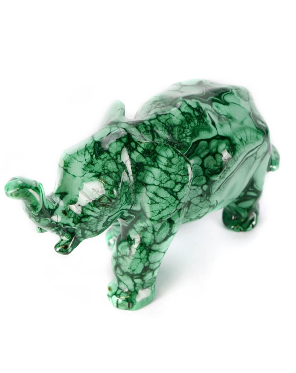 Malachite Elephant Statue