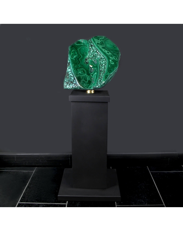 Large Malachite on Pedestal