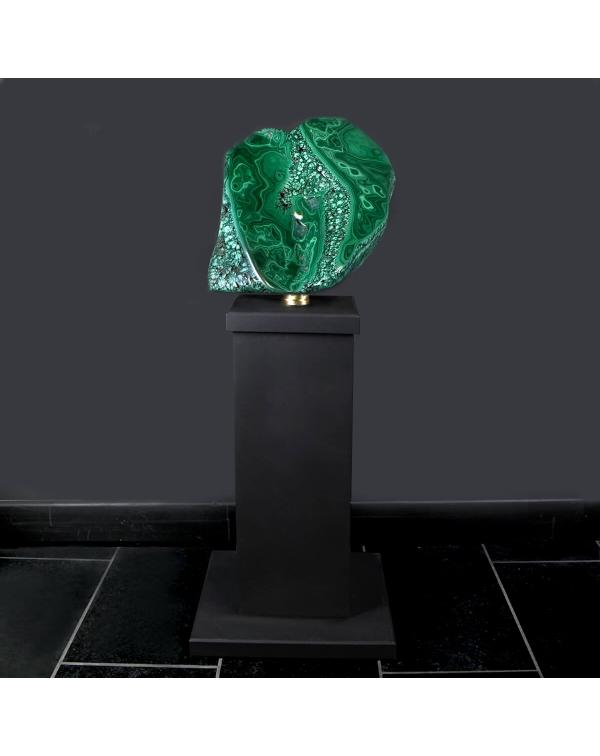 Large Malachite on Pedestal