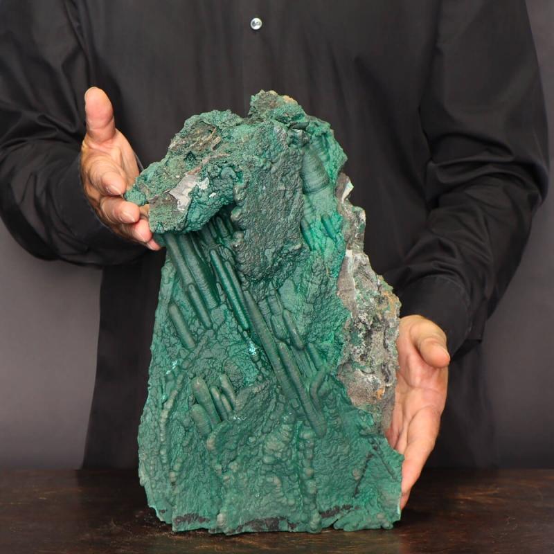 Stalactites of Botryoidales Malachite