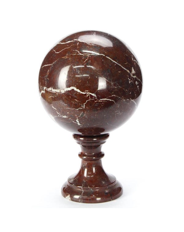 Red Marble Levanto Sphere