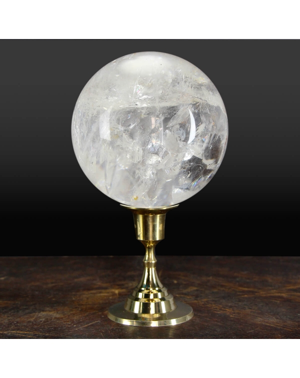 Quartz sphere with base