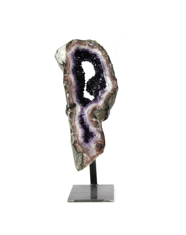 Sculpture of Amethyst and Quartz