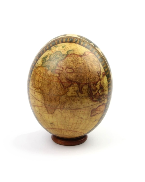 Ostrich Egg with Cartography from 17th century