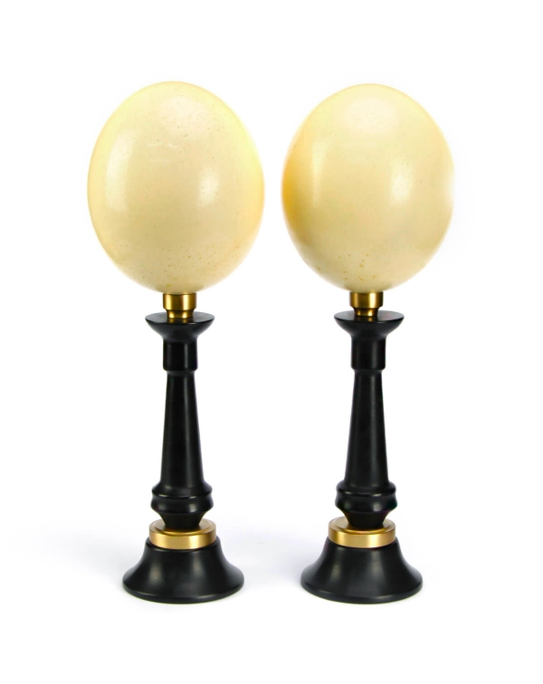Ostrich Eggs on pedestal