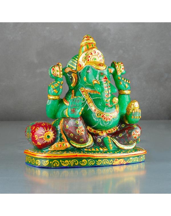 Ganesh Statue Aventurine Stone (3.3Kg)