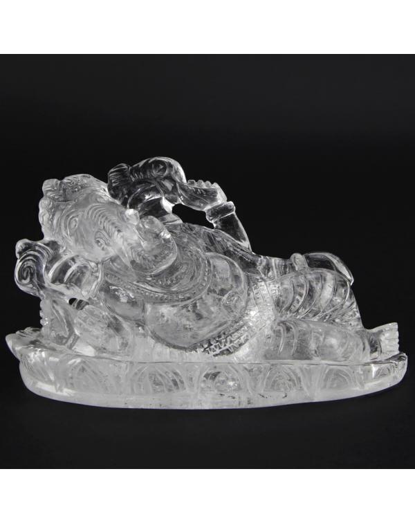 Ganesh Statue Hyaline Quartz (675g)