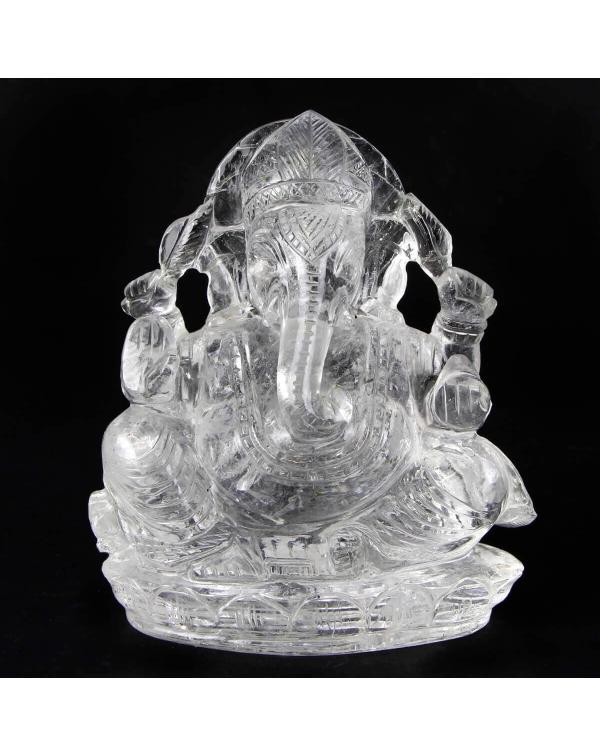 Quartz Ganesh Statue (673g)